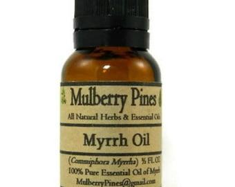 Myrrh Essential Oil - Commiphora myrrha - 1/2 Ounce Bottle - Mulberry Pines