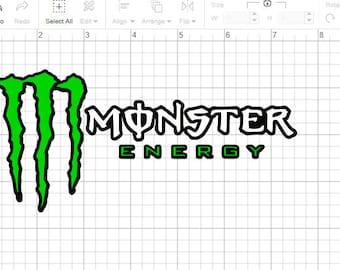 Monster Energy SVG Layered Cut File for Cricut/Silhouette