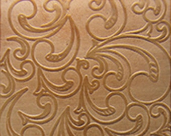 "Patterned Copper Sheet ""Nouveau"" 2"" x 6"" (choose 18 thru 24ga)  (CSP34XX)"