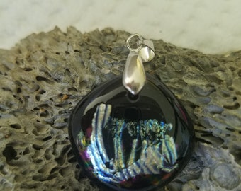 Fairy Wing Dichroic Glass Pendant