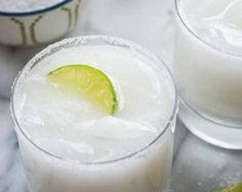 Skinny Coconut Margarita candle made with soy wax