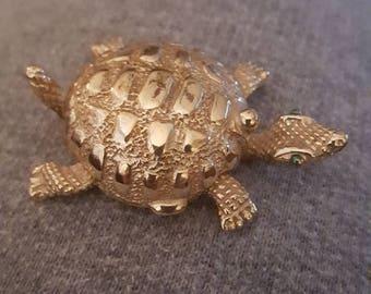 Gold Turtle Perfume Holder