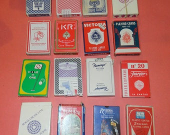 Bulk Lot of 16 Vintage Decks Playing Cards - Airline Cruise Casino #4