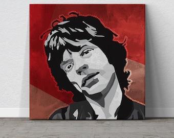 Mick Jagger, Rolling Stones, Canvas Wall Art, Pop Art, Rock and Roll, Music Art, Affordable Wall Art, Large Wall Art, WPAP Art, Man Cave