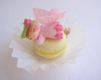 Fairy macaron tiny miniature figurine doll