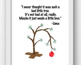 Charlie Brown, Christmas Charlie Brown, Charlie Brown Tree, Charlie Brown Quotes, Linus Quote, Charlie Brown Christmas, Digital Download