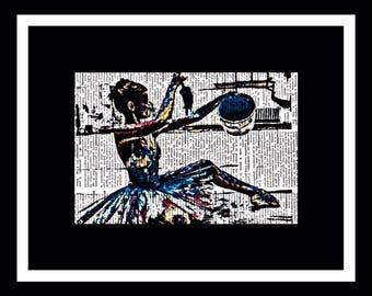 549 Impressionist Ballerina Art Vintage dictionary vintage paper