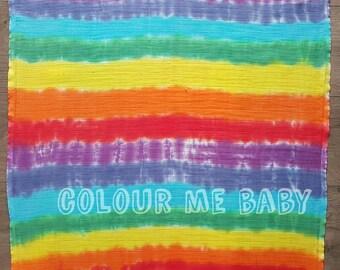 Double Rainbow muslin square