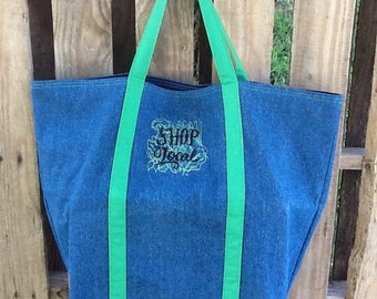 Reusable shopping bag made from recycled materials