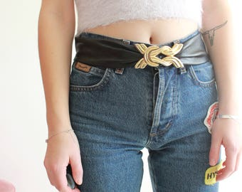 Vintage 80s Leather Waist Belt