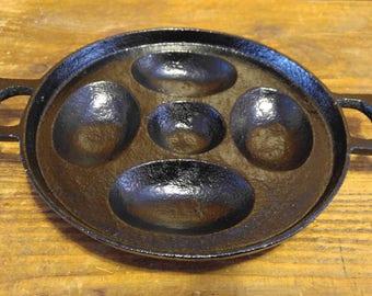 Antique Cast Iron Egg Poacher or Tray