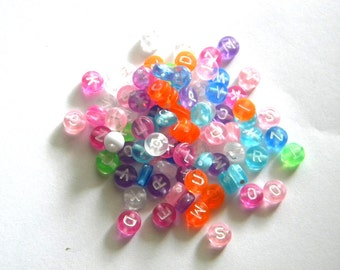 20 Alphabet Beads