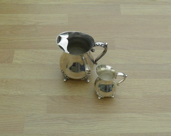 Milk & Cream Jugs - Silver Plated - Viners of Sheffield - Vintage Silverplate