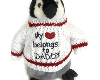 """Father's Day Penguin Plush (10"""" Tall)"""