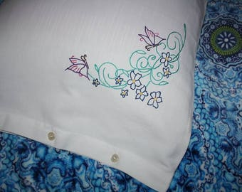 pure double raw cotton pillowcases hand embroidery