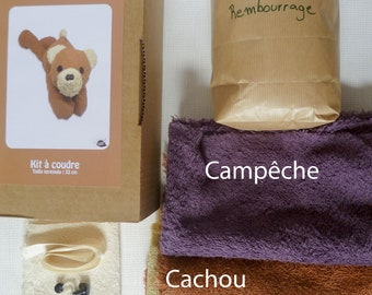 Kit sewing - bear - dyed fabrics by hand with plants - sponge