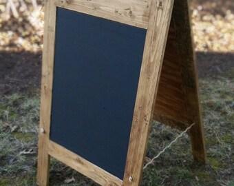 A-Frame Chalkboard Large Chalkboard Standing Chalkboard Rustic chalkboard Restaurant signs Wood chalkboard Reclaimed wood Chalkboard sign