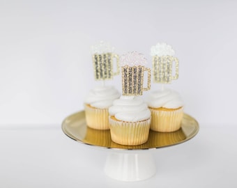 Cheers and beers cupcake topper, beer cupcake topper, mug cupcake toppers, Beer mug toppers, 30th Birthday toppers, Birthday cupcake toppers