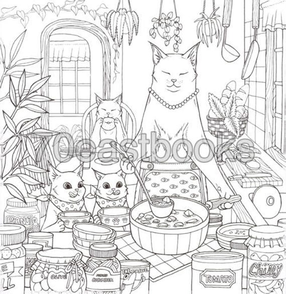 Cat Coloring Therapy Book By Grace J Nakdsok