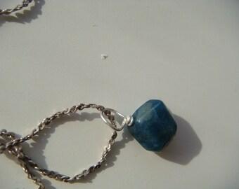 Small Semi Precious Blue Stone Necklace