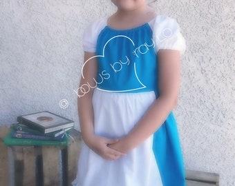 Belle Provincial Dress, blue dress, Belle costume, belle dress, baby belle dess, baby blue dress, baby Belle costume