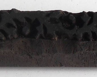 Vintage wood Block For Textile / Fabric Handmade & Hand Carved#30