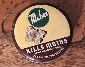 Vintage Mabex Closet Moth Ball Hanger Tin