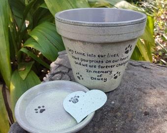 Pet Memorial Planter - Large Flower Pot - Painted Flower Pot - Dog Memorial - Cat Memorial - Extra Large