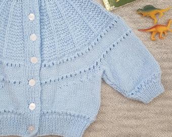 VINTAGE style Handmade Baby Cardigan size 18mth