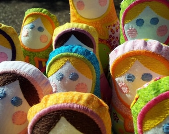 Handmade Babushka Matryoshka doll -  Child friendly