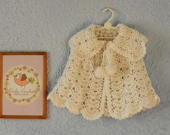 Chic Crochet Cape/Pelerin/Capelet for Children Outwear Clothing