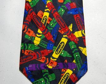 Crayola crayons rhinestone necktie