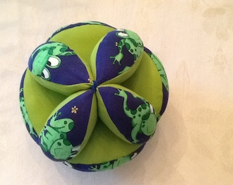 Infant Baby Toddler Grab Ball - Green /Blue Frogs