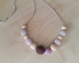 Nursing necklace Teething necklace Baby toy Necklace toy Nursing necklace Necklace for mom Breastfeeding Wood necklace Vegan gift