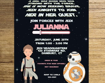 Star wars girl invitationstar wars invitationprincess Leia