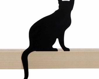 Cat's Meow // Diva // Metal Designed Art // Unique Gift // Black // Decorative Cat Silhouette by ArtoriDesign
