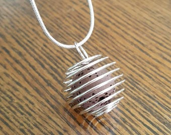 Caged Lava Bead Diffuser Necklace
