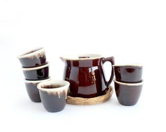 Stoneware Tea Set, Glazed Coffee Pot, Hot Chocolate Server