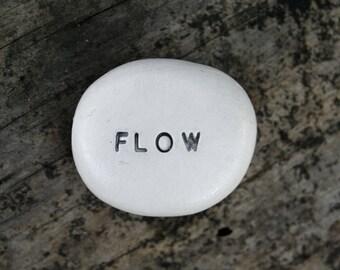 FLOW - Ceramic Message Pebble
