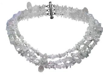 Pink Quartz multi-strand necklace, summer jewelry, vacation jewelry, cruise jewelry