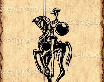 Statement Clutch - Don Quixote de la Mancha by VIDA VIDA jugPGOFO