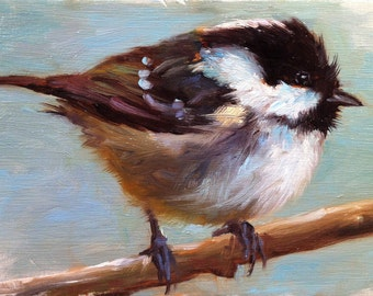 Coal Tit - Bird Painting - Open Edition Print