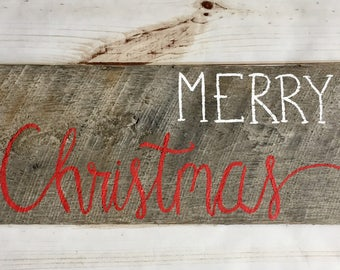 Rustic merry christmas sign, wooden meery christmas sign, rustic christmas sign, rustic christmas decorations