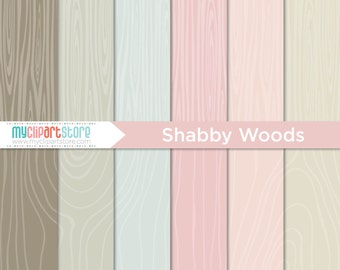 Digital Paper - Hand Drawn Shabby Woods, Vintage Woodgrain, Boix Wood Texture, Scrapbook Paper, Digital Pattern, Commercial Use, JPEG, PDF