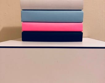 Decorative books! Pink, blue, black and white books set of 4! Colorful books decor!