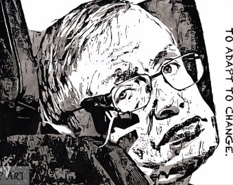 Stephen Hawking Ink Painting
