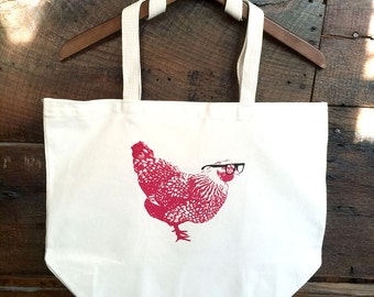 Mary Chicken Market Tote