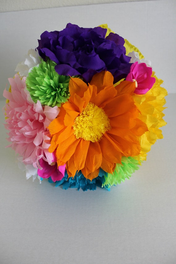Large bouquet mexican crepe paper flowers multicolor mightylinksfo