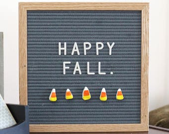FALL/Halloween Letter Board Ornaments (Pack of 5- CANDY CORN) / Felt Letter Board Accessories