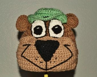 Crochet Yogi Bear Hat - crochet cartoon hats for boys or girls - Halloween costume hat - retro cartoons